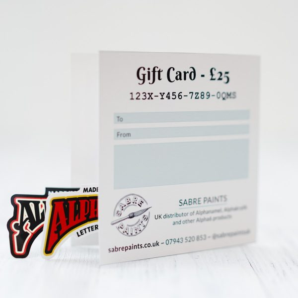 Sabre Paints Gift Card £25