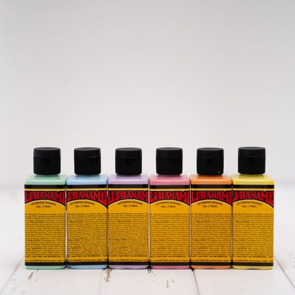 Alphanamel sherbet colours 6pack 4oz