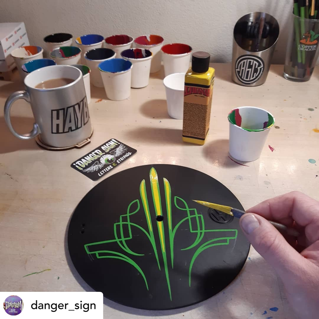 Pinstriping using Alphanamel @danger_sign